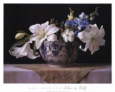 Lilies in Delft  by Ken Marlow