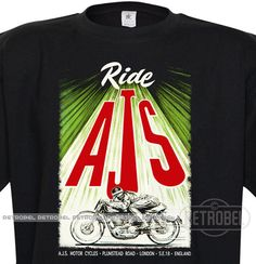 Motorcycles Men's t-shirt  AJS motorcycles Retro mens by retrobel1