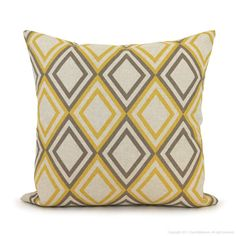 Geometric pillow cover  18x18 pillow cover  by ClassicByNature, $28.00