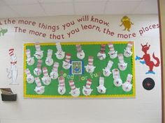 One and Wonder: Cat in the Hat bulletin board