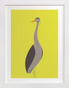 The Elegant Heron by Mayel at minted.com