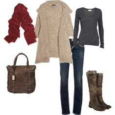 Winter Casual, love the boots!