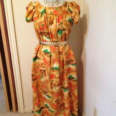 Hawaiian Muu Muu Made in Hawaii. Cute dress or swimsuit cover up. Seams not finished. Belt not included. Dresses