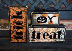 Halloween wood blocks-