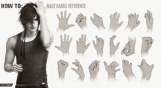 HOW TO: Male Hands Reference by tincek-marincek.deviantart.com on @DeviantArt