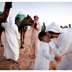 On the way to a camel beauty contest in Abu Dhabi. By Dave Yoder