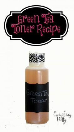 Green tea toner recipe for acne prone or oily skin.