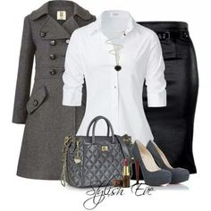 Cute business attire outfit!! Great office look! :)