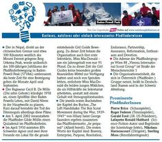Nutzloses Pfadiwissen im PPÖ-Brief, Weihnachten 2011 Event Ticket, Boy Scouts, Knowledge, Christmas