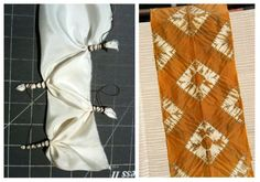 Komasu Shibori Tutorial. This looks really cool.