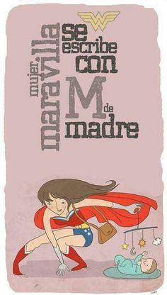 Mujer maravilla cn M d madre