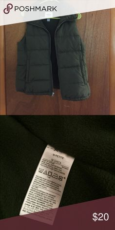 Olive green fluffy vest Only worn a couple of times in excellent condition. Has pockets Old Navy Jackets & Coats Vests