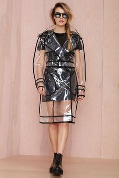 BLQ Basiq Clear Out Trench Coat   Shop Shop All at Nasty Gal #streetstyle