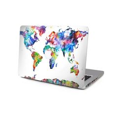 Macbook decal Stickers macbook pro Top skin macbook Retina decal stickers Air sticker macbook Watercolor Map top skin by CreativeDecalDesigns on Etsy https://www.etsy.com/listing/227835388/macbook-decal-stickers-macbook-pro-top
