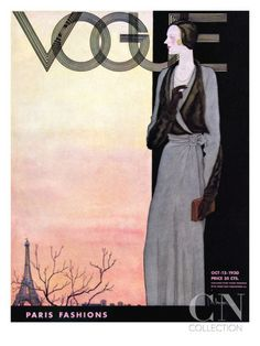 Vogue Cover - October 1930 Poster Print by Georges Lepape at the Condé Nast Collection