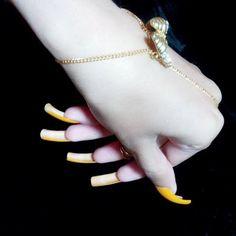Long Fingernails, Long Nails, Long Natural Nails, Fancy, Beautiful, Nice Nails, Cute Nails