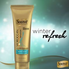 Show your strands some love with Suave Professionals Moroccan Infusion Deep Conditioning Shine Mask.