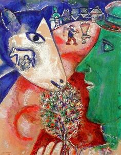 Marc Chagall, I and the Village - love this painting! #artist #art #artworks #Marc-Chagall #marcchagall #jewish