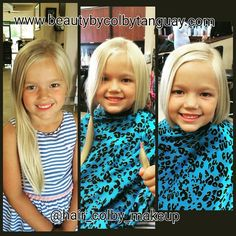 #beforeandafter of Casey when she #donated her hair to #pantenebeautifullengths #hairthatbringshope program!! #beautybycolbytanguay #beautybycolby #ochairstylist #ochair #kidscuts #haircut #