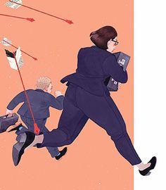 #illustration #sketchbook Median haavoittamat - Journalisti