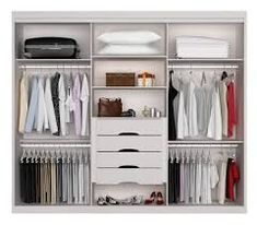 guarda roupa embutido casal quarto pequeno - Pesquisa Google