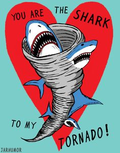 You Are The Shark To My Tornado. YES. A million times YES