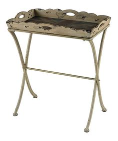 Look what I found on #zulily! Antique Union Jack Tray Table #zulilyfinds