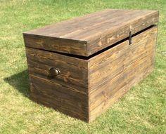 Wooden chest rustic coffee table shoe storage shabby chic