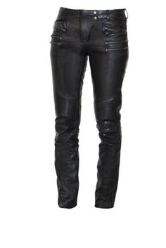 Womens Leather Motorcycle Pants - Sexy Vixen