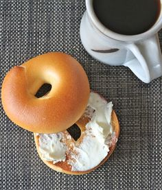 sourdough bagel with cream cheese