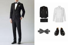 Schwarz Anzug in der Hochzeit