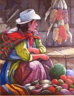 oleos de artistas peruanos - Buscar con Google Mexican Paintings, Great Paintings, Peruvian Art, Mexico Art, Arte Popular, Sketch Painting, Indigenous Art, Mexican Folk Art, Illustrations And Posters