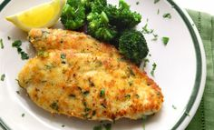 Baked Parmesan Garlic Chicken: 4 ingredients and throw it in the oven. Fast, easy and healthy!!