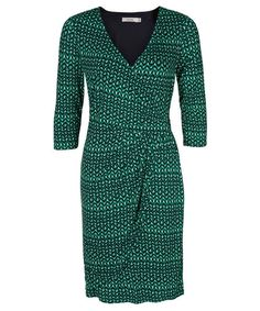 This simple and classic dress features our fan favourite faux wrap silhouette with an added tulip wrap detail. This dress is both flattering and comfortable to wear 50 Is Not Old, Outfit Combinations, Tulips, Blue Green, Wrap Dress, Dresses For Work, Fashion Outfits, My Style, Classic