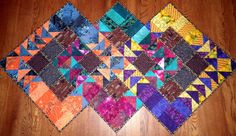Project QUILTING - Flying Geese Challenge Entry - Three Geese by KimsCraftyApple, via Flickr