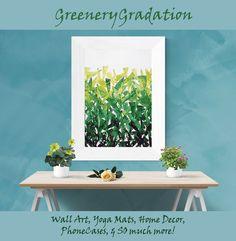 #Greenery Gradation #WallArt #HomeDecor & much more! #GiftIdeas #ContemporaryArt #Geometric #green #fashionista