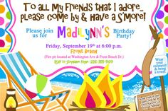 S'more Bonfire Invitation  //  Personalized  by MemoryMakerStudio, $10.00