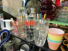 Fun vintage cocktail and barware offered by Robinson Antiques at Alfies.