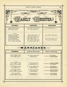 antique family register, genealogy form, family history form, black and white clip art, vintage family clipart