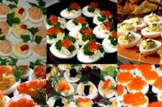 Stuffed eggs are a very popular appetizer, delicious and delicious. This is a snack that is prepared quite simply and quickly, with an important advantage: they can be filled with any favorite product Popular Appetizers, Romanian Food, Romanian Recipes, Cocktails, Caprese Salad, Finger Foods, Food Videos, Food To Make, Sushi