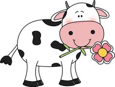 Cow With A Flower In Its Mouth Udderly Adorable - Cute Cow Clipart Png , Transparent Cartoon, Free Cliparts & Silhouettes - NetClipart