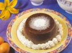 Receita de Flan de Chocolate para Crianças - 1 litro de leite, 1 colher (sopa) de açúcar União, 3 colheres (sopa) de amido de milho, 3 colheres (sopa) de chocolate em pó, 1 lata de leite condensado, 1 lata de creme de leite sem soro