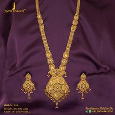 Gold 916 Premium Design Get in touch with us on Gold Jewelry For Sale, Gold Jewelry Simple, Gold Rings Jewelry, Gold Jewellery Design, Gold Mangalsutra Designs, Necklace Designs, Gold Necklace, Antique Necklace, Bridal Necklace
