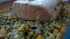 Porc sale aux lentilles par Benkku81 Baked Potato, Potatoes, Baking, Ethnic Recipes, Pork, Meat, Recipe, Green Lentils, Kitchens