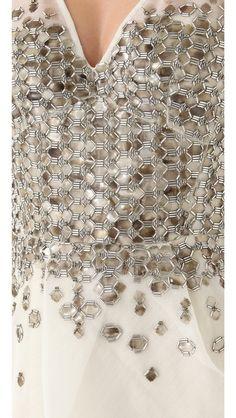 details make the dress...Lela Rose                                                     Beaded Embroidery Dress