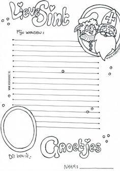 Afbeeldingsresultaat voor brief sinterklaas knutselen