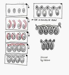 Zentangle pattern.