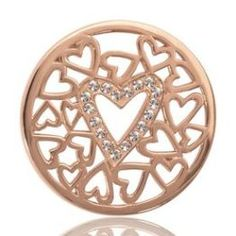 Nikki Lissoni Rose Surrounded Hearts Medium Coin (001-026-20453)