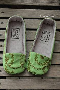 Fun! ithinksew.com has some great shoe patterns!