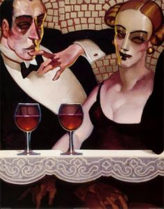 'Ladies and Gentlemen' by Juarez Machado (b 1941, Joinville, Santa Catarina, Brazil), since 1986 based in Paris.